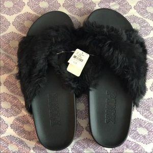 Furry slides in black